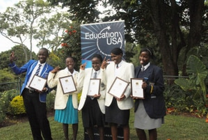 u s embassy honors black history month essay contest winners   black history month essay contest winners from left zibusiso mtunzi from john tallach high bulawayo rutendo madziwo